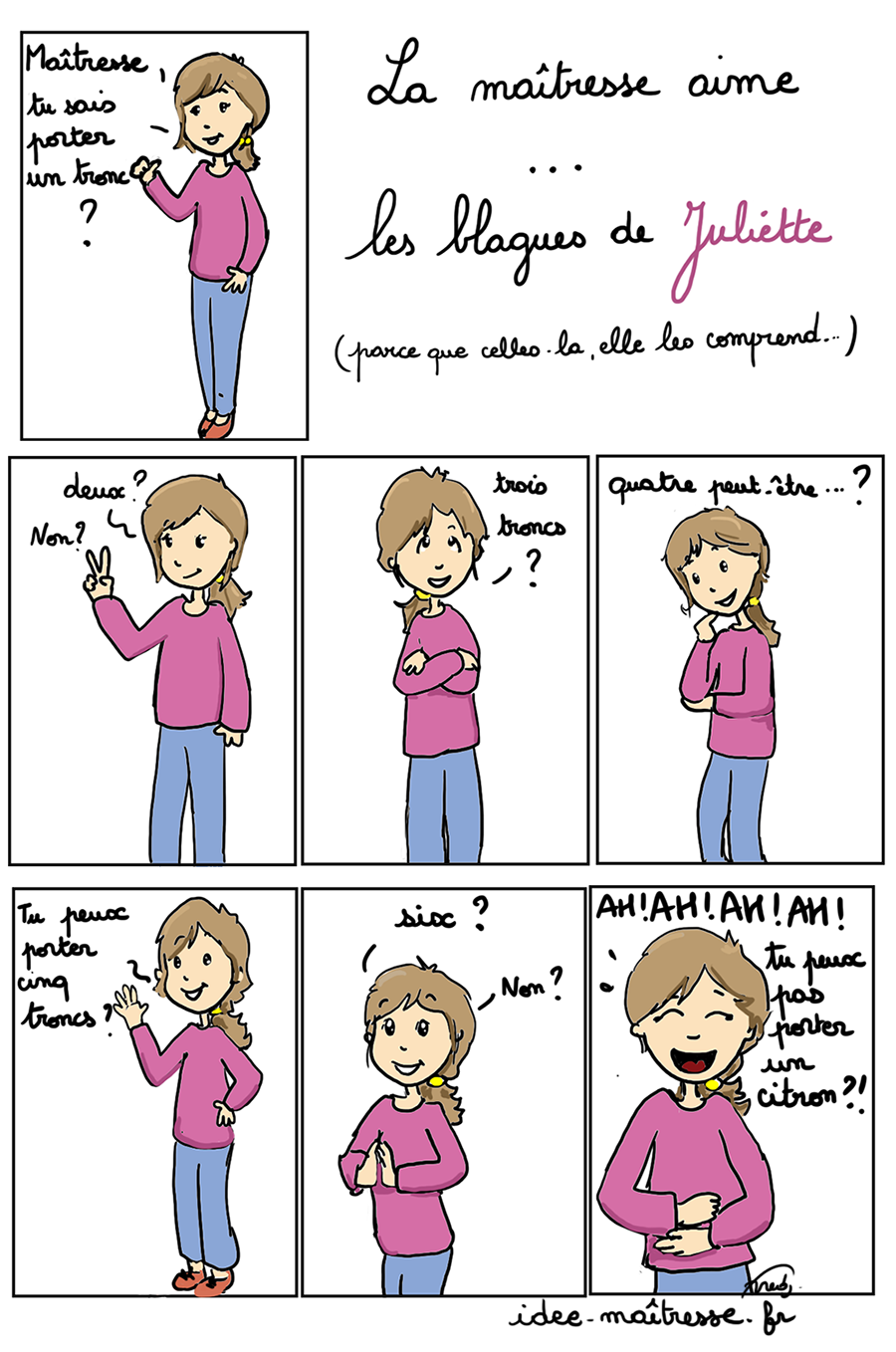 La blague de Juliette