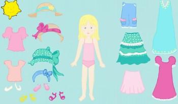 poupée été à habiller: un atelier de langage pour la classe