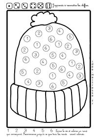 Coloriage Code Hiver Maternelle.Activites Sur Le Theme De L Hiver 1 Maths Ms Gs