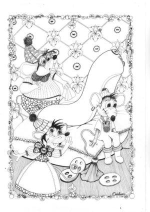 Coloriage Cendrillon Souris.Souris Archives