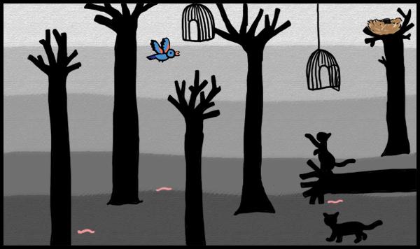 Exemple d'un jeu de labyrinthe réalisé par les enfants sur PC