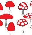 Modèle  les champignons pour pâte à modeler